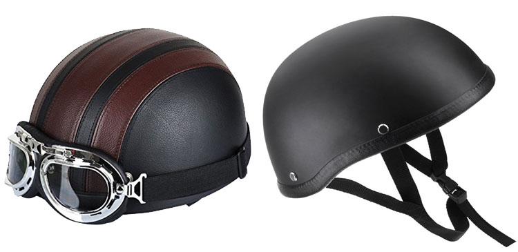 casco clasico de moto