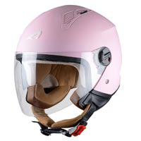 casco abierto rosa