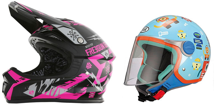 casco de moto para niños