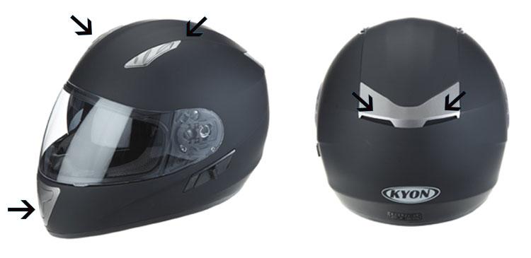 ventilacion de casco de moto