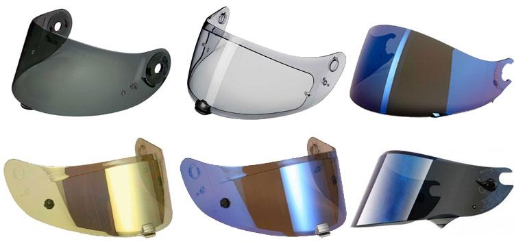 viceras para casco de moto