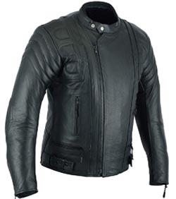 chaqueta de moto piel negra