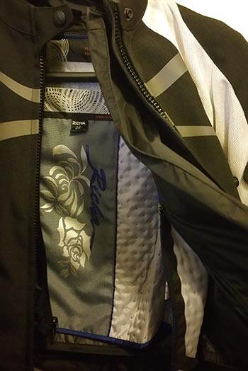 chaqueta de moto con forro termico desmontable