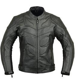 chaqueta piel estilo batman moto