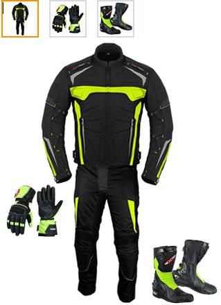 traje de moto completo