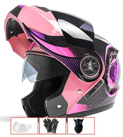 casco modular de moto para mujer #cascomujer